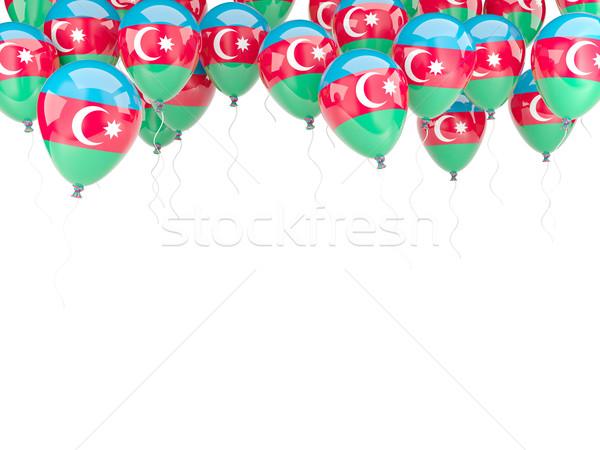 Globo marco bandera Azerbaiyán aislado blanco Foto stock © MikhailMishchenko