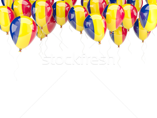 Balloon frame with flag of chad Stock photo © MikhailMishchenko