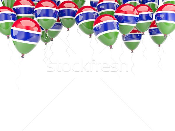 Ballon cadre pavillon Gambie isolé blanche Photo stock © MikhailMishchenko
