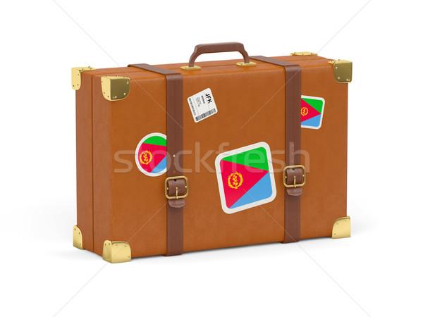 чемодан флаг Эритрея путешествия изолированный белый Сток-фото © MikhailMishchenko