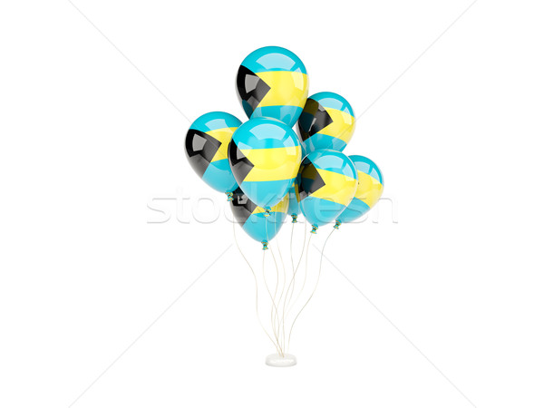 Flying balloons with flag of bahamas Stock photo © MikhailMishchenko