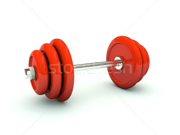 Dumbbell isolated on white Stock photo © MikhailMishchenko