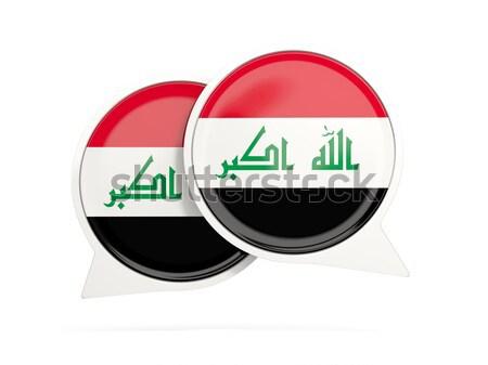 Round button with flag of iraq Stock photo © MikhailMishchenko