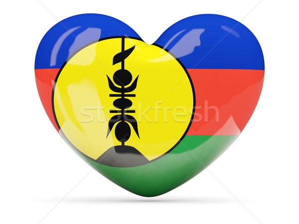 Heart shaped icon with flag of new caledonia Stock photo © MikhailMishchenko