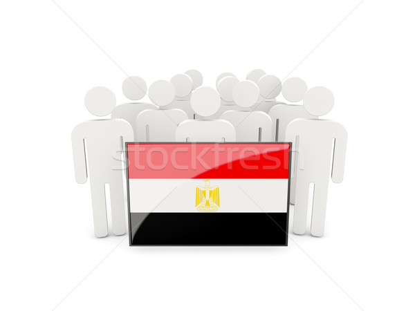 People with flag of egypt Stock photo © MikhailMishchenko