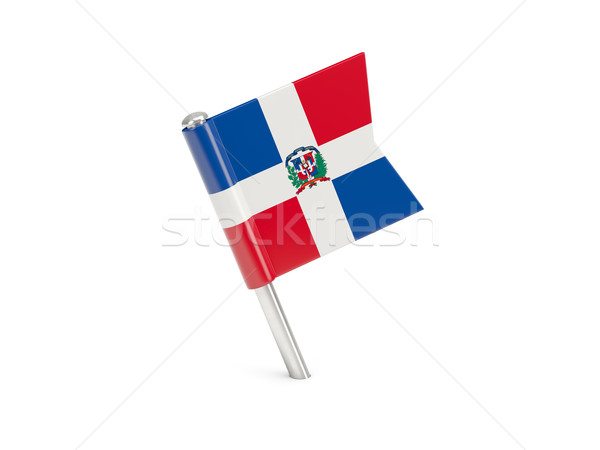 Flag pin of dominican republic Stock photo © MikhailMishchenko