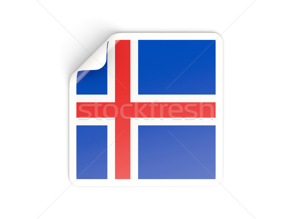 Square sticker with flag of iceland Stock photo © MikhailMishchenko
