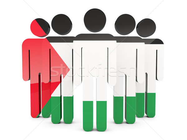 People with flag of palestinian territory Stock photo © MikhailMishchenko