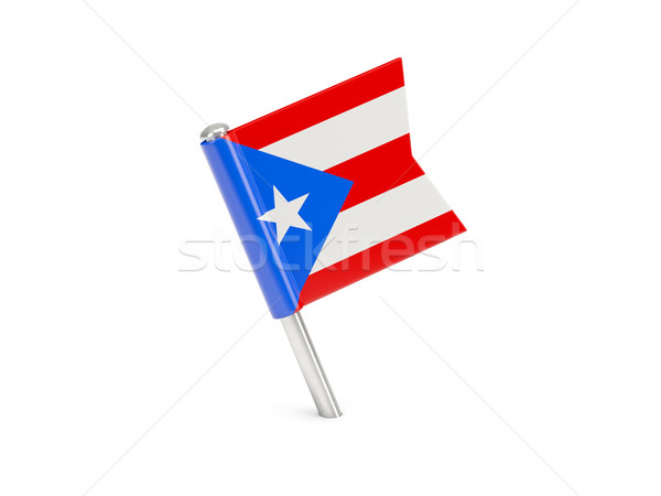 Vlag pin Puerto Rico geïsoleerd witte Stockfoto © MikhailMishchenko