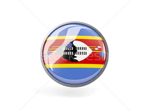 Round icon with flag of swaziland Stock photo © MikhailMishchenko
