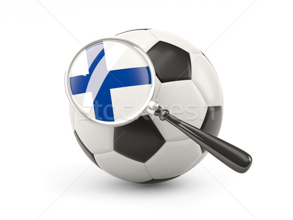 サッカー 拡大された フラグ フィンランド 孤立した 白 ストックフォト © MikhailMishchenko