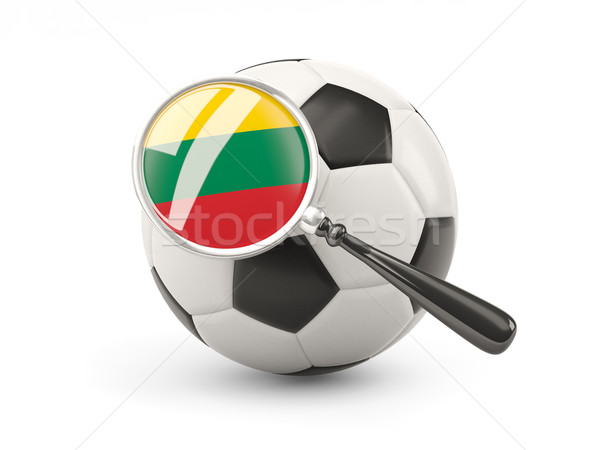 Football with magnified flag of lithuania Stock photo © MikhailMishchenko