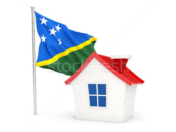 House with flag of solomon islands Stock photo © MikhailMishchenko