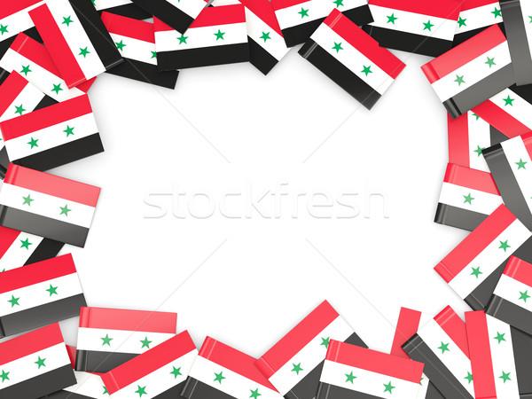 Frame vlag Syrië geïsoleerd witte Stockfoto © MikhailMishchenko