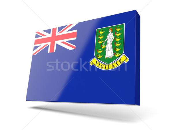 квадратный икона флаг Виргинские о-ва британский изолированный Сток-фото © MikhailMishchenko