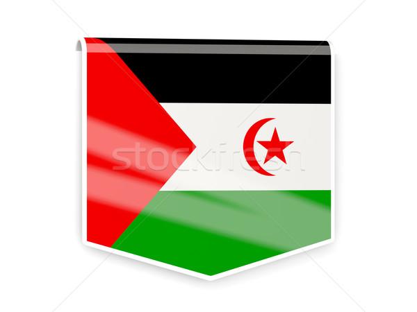 Zászló címke western Szahara izolált fehér Stock fotó © MikhailMishchenko