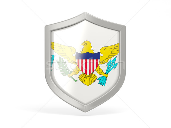 Shield icon with flag of virgin islands us Stock photo © MikhailMishchenko