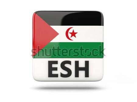 Placu ikona banderą Dżibuti iso kodu Zdjęcia stock © MikhailMishchenko