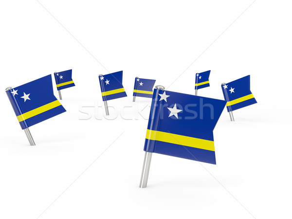 Square pins with flag of curacao Stock photo © MikhailMishchenko