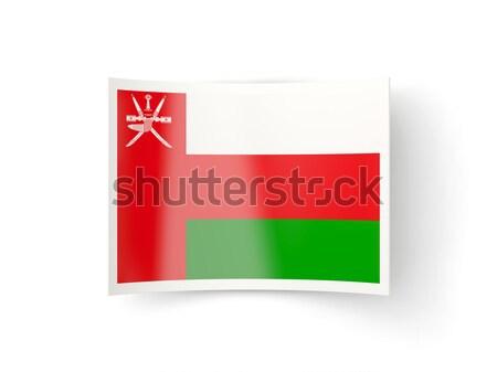 Ikon bayrak Umman yalıtılmış beyaz ülke Stok fotoğraf © MikhailMishchenko