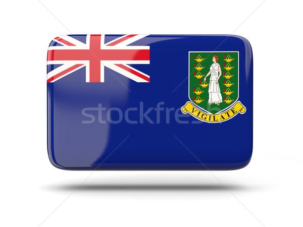 Placu ikona banderą Wyspy Dziewicze brytyjski cień Zdjęcia stock © MikhailMishchenko