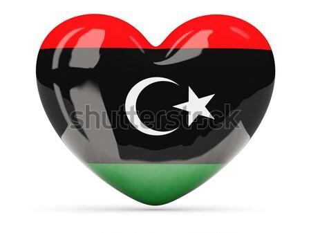 Piłka nożna banderą Libia 3d ilustracji piłka nożna sportu Zdjęcia stock © MikhailMishchenko
