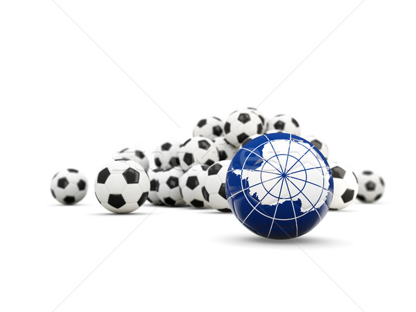 Football with flag of antarctica isolated on white Stock photo © MikhailMishchenko