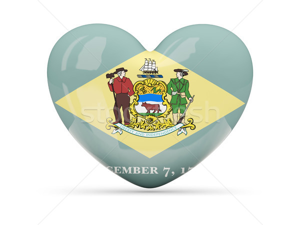 Flag of delaware, US state heart icon Stock photo © MikhailMishchenko