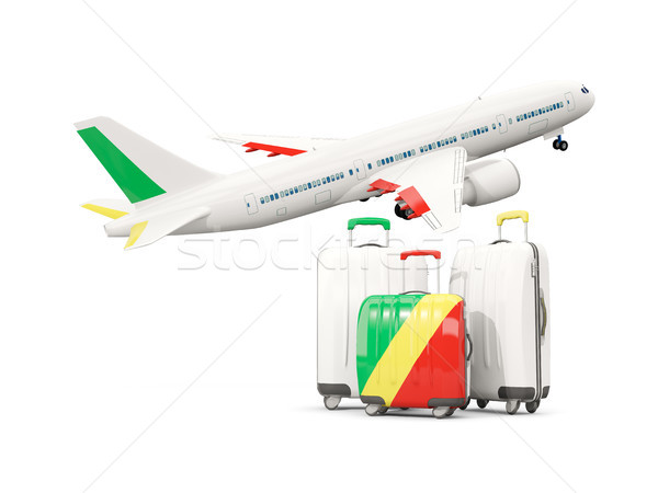 Luggage with flag of republic of the congo. Three bags with airp Stock photo © MikhailMishchenko