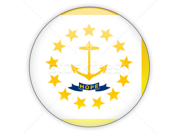 Flag of rhode island, US state icon Stock photo © MikhailMishchenko