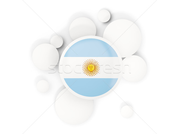 Round flag of argentina with circles pattern Stock photo © MikhailMishchenko
