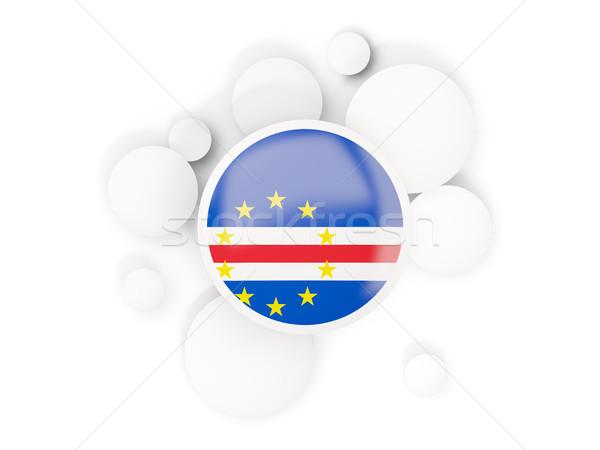 Round flag of cape verde with circles pattern Stock photo © MikhailMishchenko