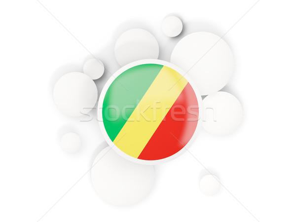 Bayrak cumhuriyet circles model yalıtılmış beyaz Stok fotoğraf © MikhailMishchenko