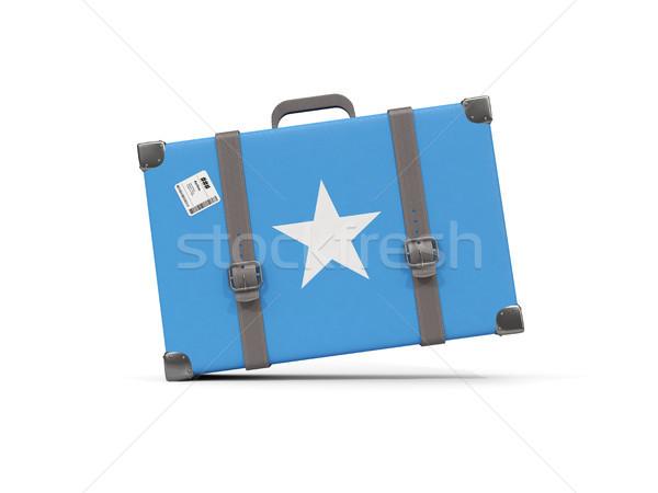 Bagages pavillon Somalie valise isolé blanche Photo stock © MikhailMishchenko