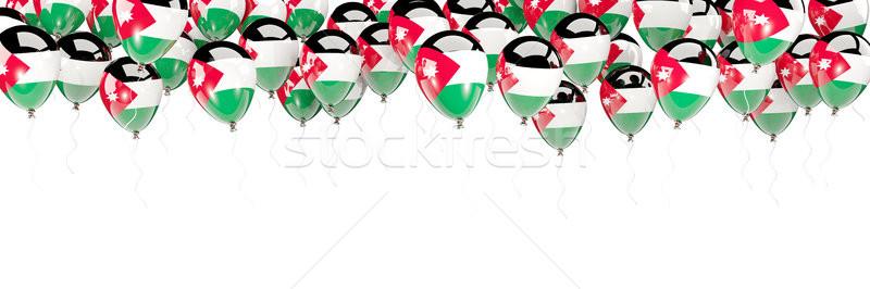 Ballonnen frame vlag Jordanië geïsoleerd witte Stockfoto © MikhailMishchenko