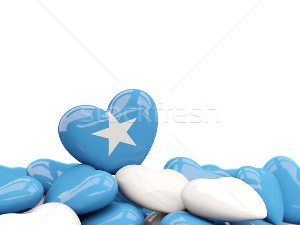 Coeur pavillon Somalie haut coeurs isolé Photo stock © MikhailMishchenko