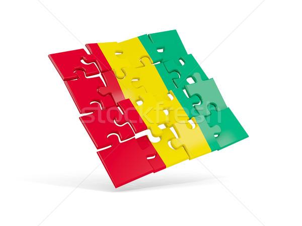 Quebra-cabeça bandeira Guiné isolado branco ilustração 3d Foto stock © MikhailMishchenko