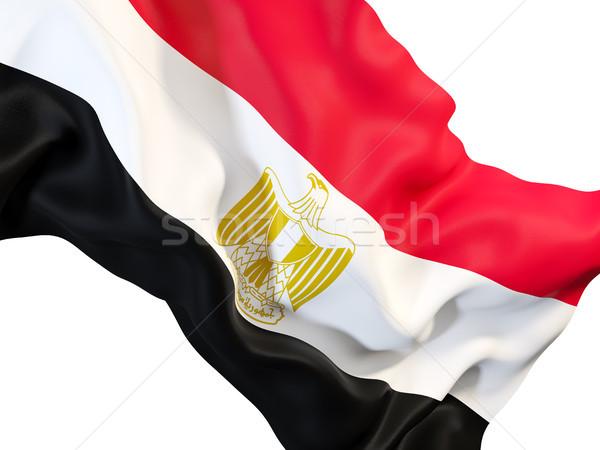 Banderą Egipt 3d ilustracji podróży Zdjęcia stock © MikhailMishchenko