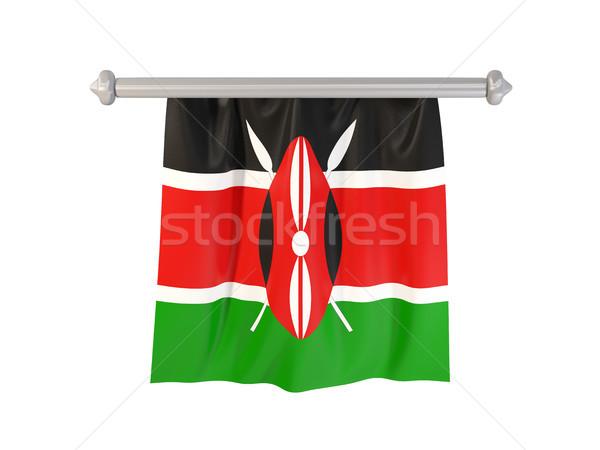 フラグ ケニア 孤立した 白 3次元の図 ラベル ストックフォト © MikhailMishchenko