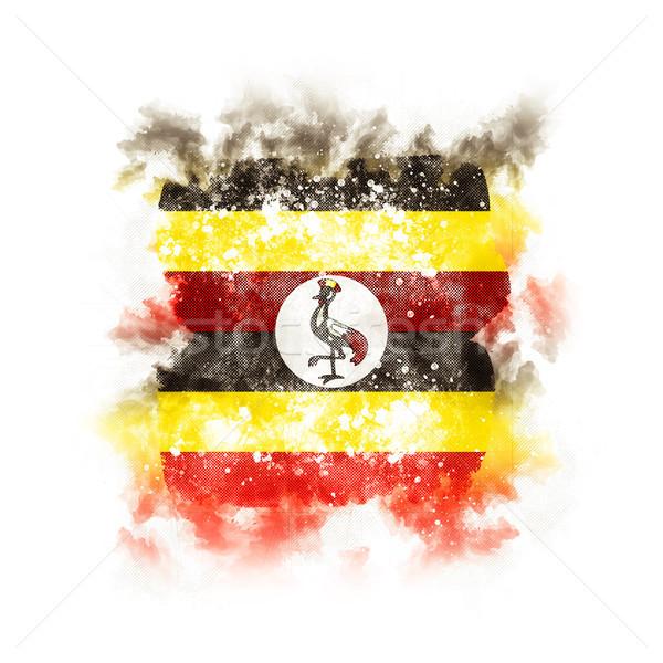 Square grunge flag of uganda Stock photo © MikhailMishchenko