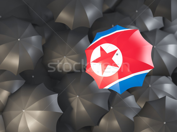 Umbrella with flag of north korea Stock photo © MikhailMishchenko