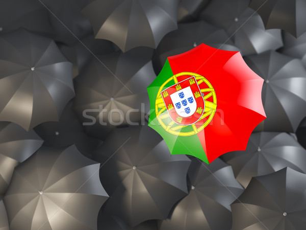 Umbrella with flag of portugal Stock photo © MikhailMishchenko