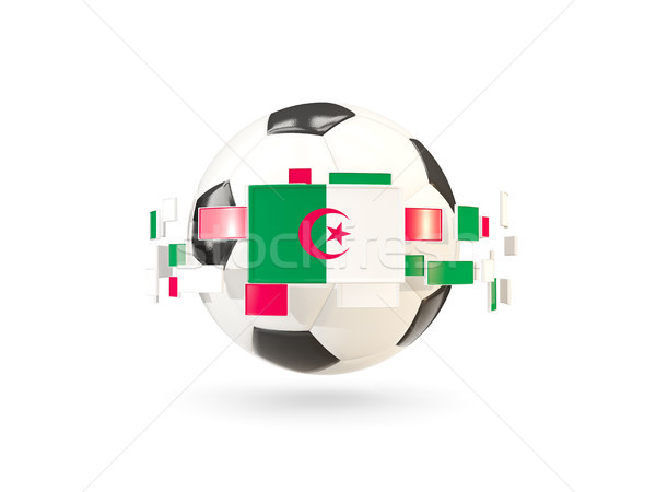 Futebol linha bandeiras bandeira Argélia flutuante Foto stock © MikhailMishchenko