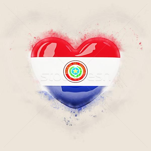 Heart with flag of paraguay Stock photo © MikhailMishchenko