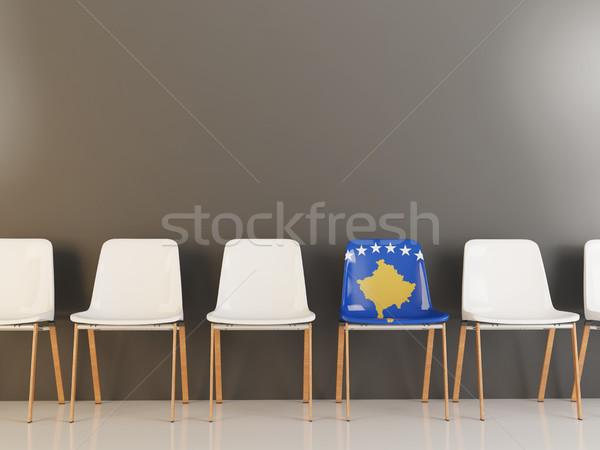 Chair with flag of kosovo Stock photo © MikhailMishchenko