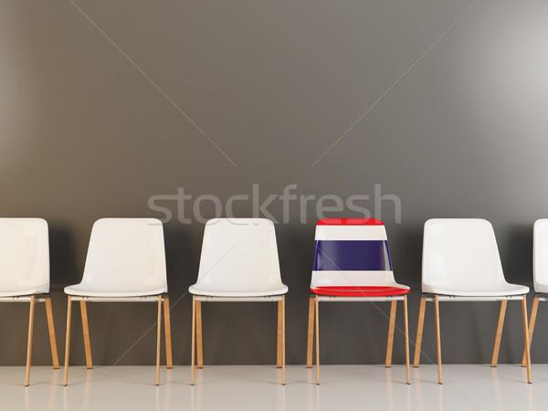 Silla bandera Tailandia blanco sillas Foto stock © MikhailMishchenko