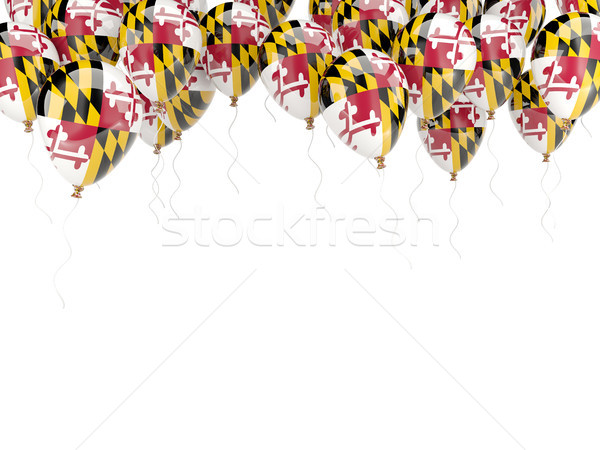 Balloons frame with flag of maryland. United states local flags Stock photo © MikhailMishchenko