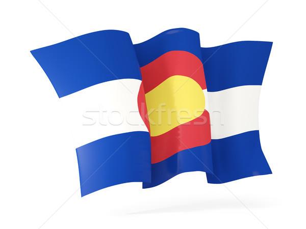 Колорадо флаг икона Соединенные Штаты Сток-фото © MikhailMishchenko
