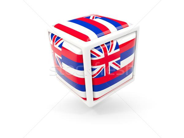 Stock fotó: Hawaii · zászló · kocka · ikon · Egyesült · Államok · helyi