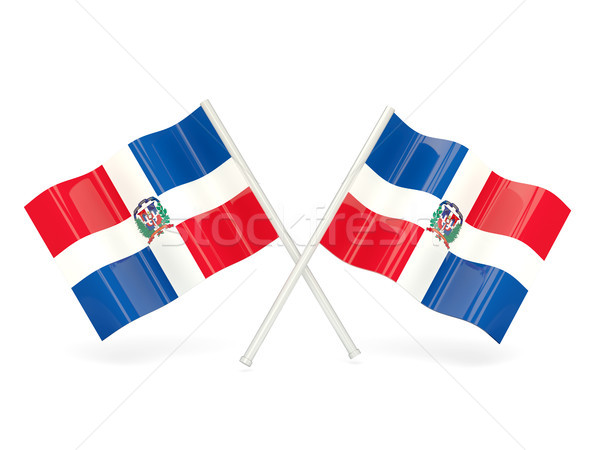 Flag of dominican republic Stock photo © MikhailMishchenko